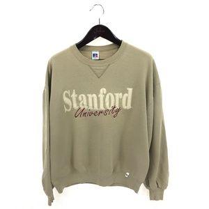 STANFORD UNIVERSITY Sweatshirt Beige XL Russell